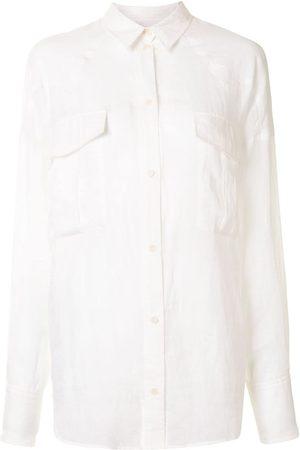 Karen Walker Camisa Cedar con cuello de pico
