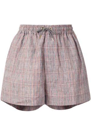 Karen Walker Mujer Pantalones cortos - Shorts Maple a cuadros