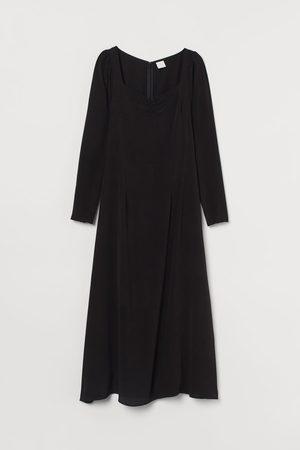 H&M Mujer Midi - Vestido con manga puffy
