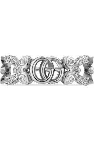 Gucci Anillos - Anillo Flora 18 K con pavé de diamantes