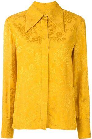 Karen Walker Mujer Camisas - Camisa con motivo floral en jacquard
