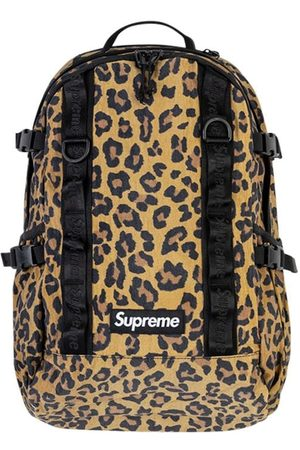 Supreme Mochila con estampado de leopardo
