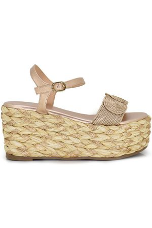 Exé Shoes Sandalias SANDALIA PLATAFORMA ESPARTO PULSERA CHAMPAGNE OLIVIA-233 para mujer