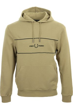 Fred Perry Jersey Embroidered Panel Hooded Sweatshirt para hombre
