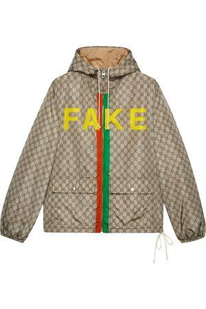 Gucci Chaqueta con motivo Fake/Not
