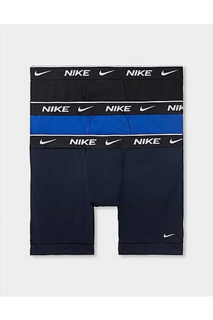 Nike Hombre Calzoncillos y Boxers - 3-Pack Boxer Shorts, Black/Navy/Blue