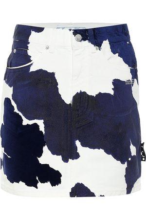 OFF-WHITE Minifalda de jeans estampada