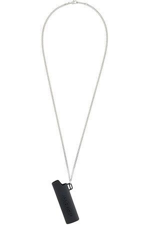 AMBUSH Collar con colgante de funda de mechero y logo