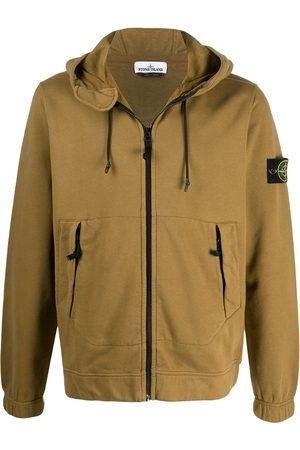 Stone Island Hombre Jerséis y sudaderas - Zipped logo patch hoodie