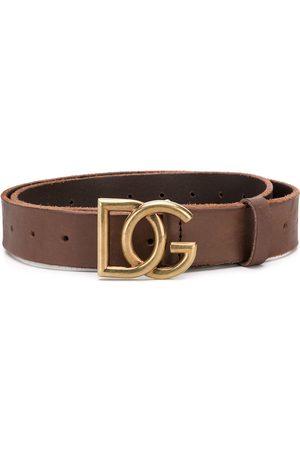 Dolce & Gabbana DG buckle leather belt