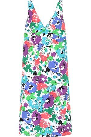 Plan C Vestido midi de sarga floral