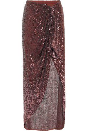 Balmain Falda larga con lentejuelas