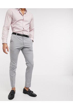 Selected Pantalones de traje elásticos de corte slim en claro de