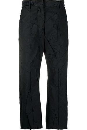 MM6 MAISON MARGIELA Pantalones capri con efecto arrugado