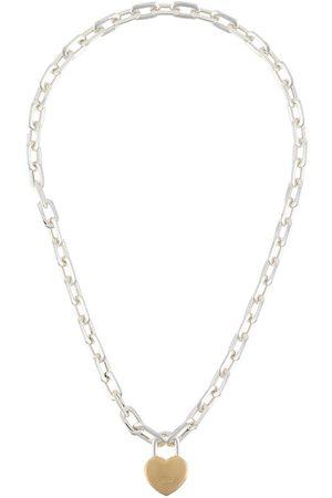 AMBUSH Collar con colgante de candado de corazón pequeño