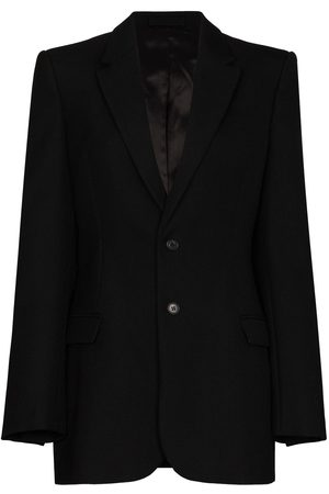 WARDROBE.NYC Sculpted single-breasted wool blazer