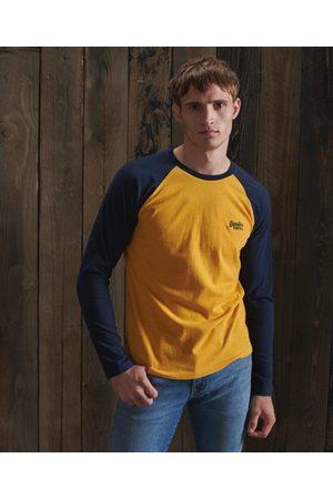 Superdry Hombre Camisetas y Tops - Camiseta de béisbol de algodón orgánico
