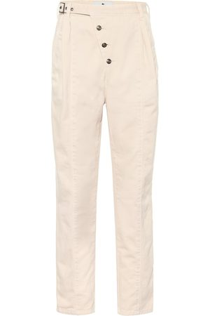 Etro Exclusivo en Mytheresa – pantalones tapered de algodón de tiro alto