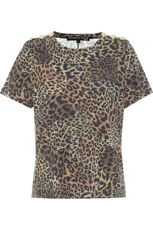 VERONICA BEARD Camiseta Carla de algodón estampada