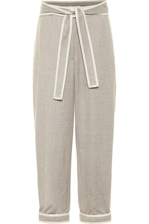 Stella McCartney Pantalones cropped de franela
