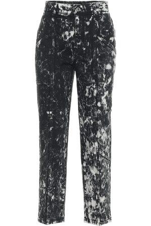 Stella McCartney Jeans Galaxy de tiro alto cropped