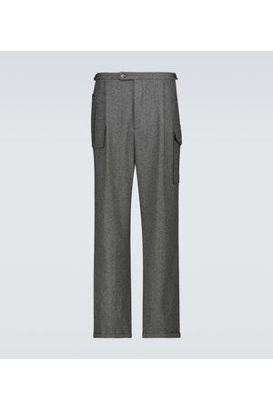 WINNIE N.Y.C Pantalones de lana plisados