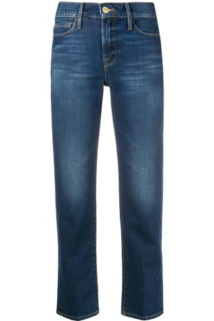 Frame Cropped slim-fit jeans