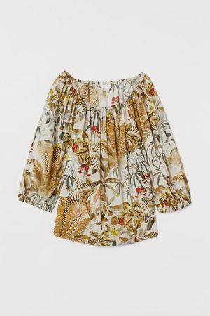 H&M Blusa con mangas puffy