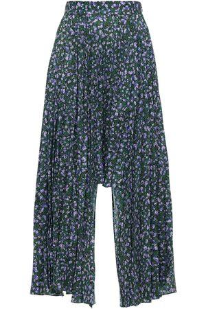 Rokh | Mujer Falda Asimétrica Plisada Estampada /multi 34