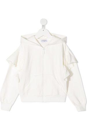 MONNALISA Alice-embroidered hoodie