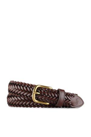 Ralph Lauren Cinturón de piel trenzado