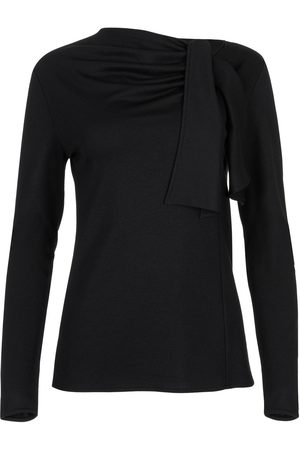 Lisca Blusa Camiseta de manga larga Giselle negra para mujer