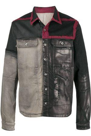 Rick Owens Painted panel denim jacket