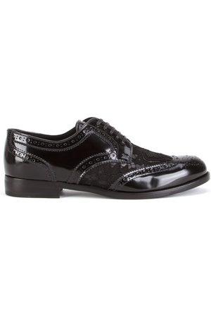 Dolce & Gabbana Zapatos brogues con aplique de encaje