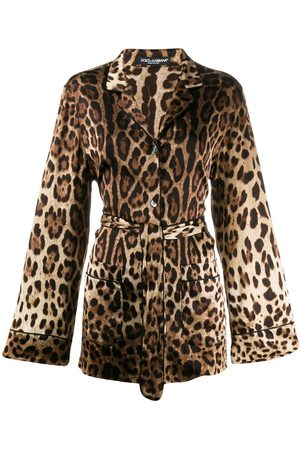 Dolce & Gabbana Camisa con motivo de leopardo