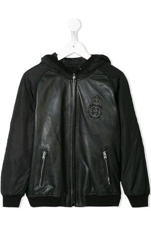 Dolce & Gabbana Chaqueta bomber con capucha y logo
