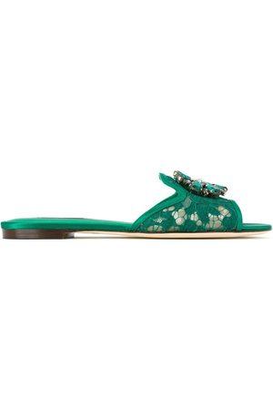 Dolce & Gabbana Sandalias con encaje y cristales