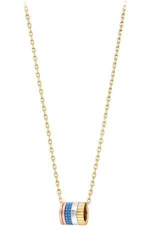 Boucheron Collar Quatre con colgante de anillos en oro amarillo de 18kt con diamante