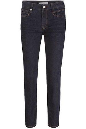 HUGO BOSS Mujer Cintura alta - Slim-fit jeans in dark-blue comfort-stretch denim