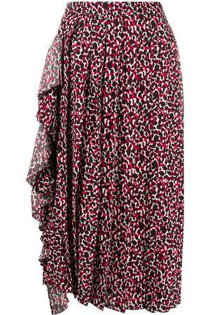 Nº21 Falda midi con estampado abstracto