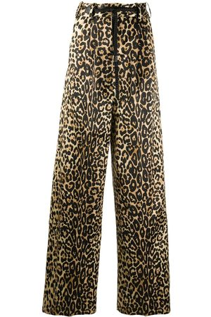 Tom Ford Pantalones anchos con motivo de leopardo