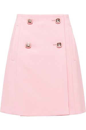 Prada Mujer De talle alto - Double-breasted skirt