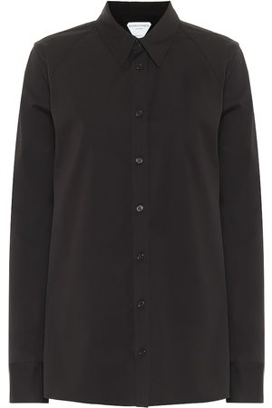 Bottega Veneta Camisa de algodón elastizado