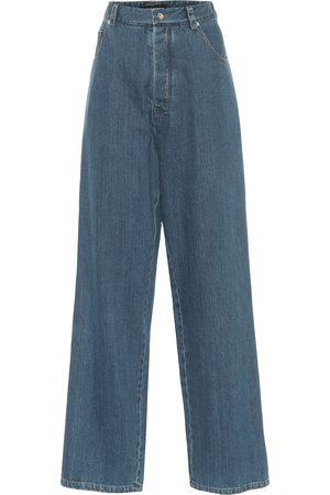 Kwaidan Editions Jeans anchos de tiro alto