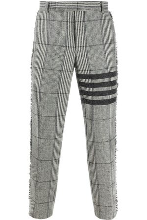 Thom Browne Pantalones chinos oversize a cuadros