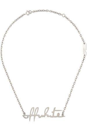 OFF-WHITE Collar con letras del logo