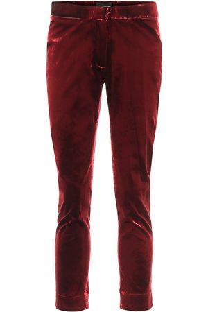 ANN DEMEULEMEESTER Pantalones skinny de terciopelo