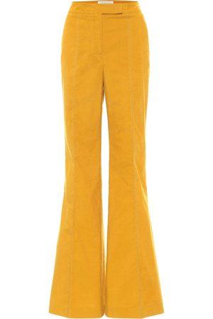 GABRIELA HEARST Pantalones flared Leda de algodón