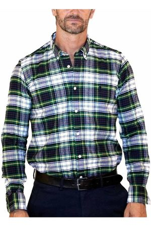 El Pulpo Camisa manga larga CAMISA FRANELA SCOT MARINO para hombre