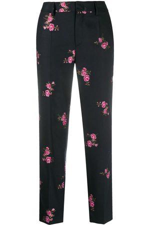 RED Valentino Pantalones de vestir con motivo floral